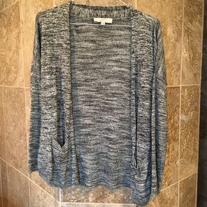 LOFT gray cardigan